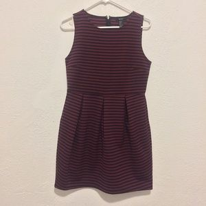 Forever 21 Black and Red Stripe Dress